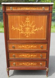 French Inlaid Walnut Writing Desk